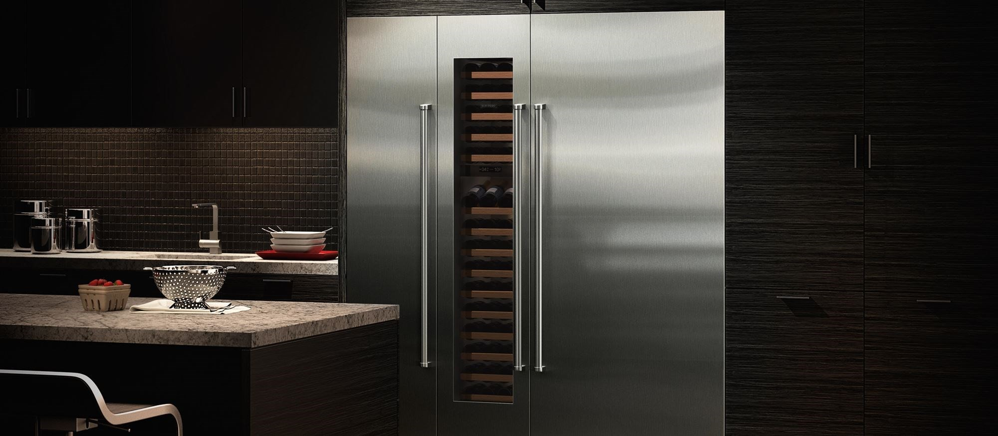 Sub Zero 36 Quot Designer Column Refrigerator With Internal