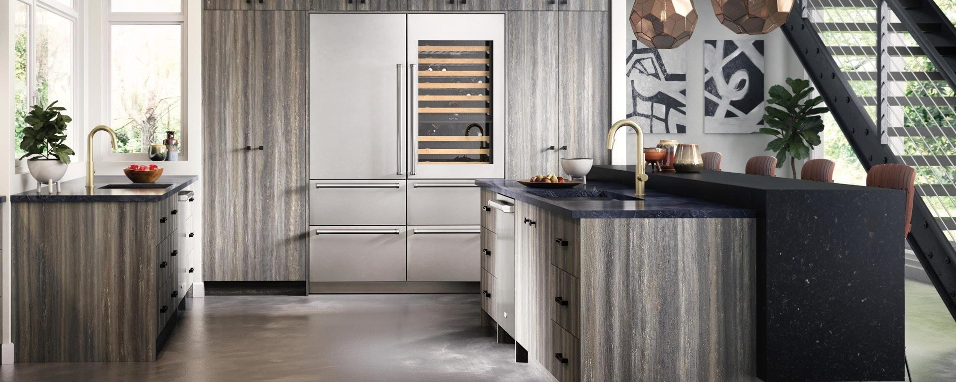 Cove dishwasher with custom panels blended into stunning kitchen design