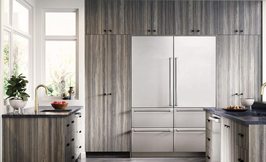 "Sub-Zero 30"" Designer Tall Refrigerator/Freezer (IT-30CIID) X 2 with Sub-Zero 30"" Wine Storage with Refrigerator Drawers (IW-30R)"