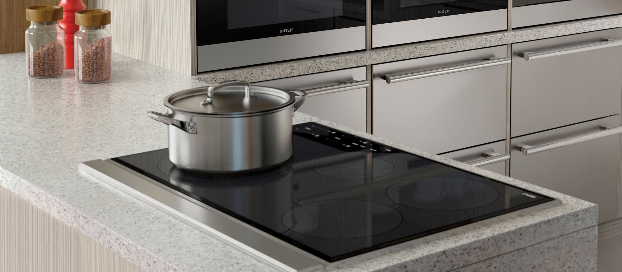 "Wolf 30"" Transitional Induction Cooktop (CI304T/S)"