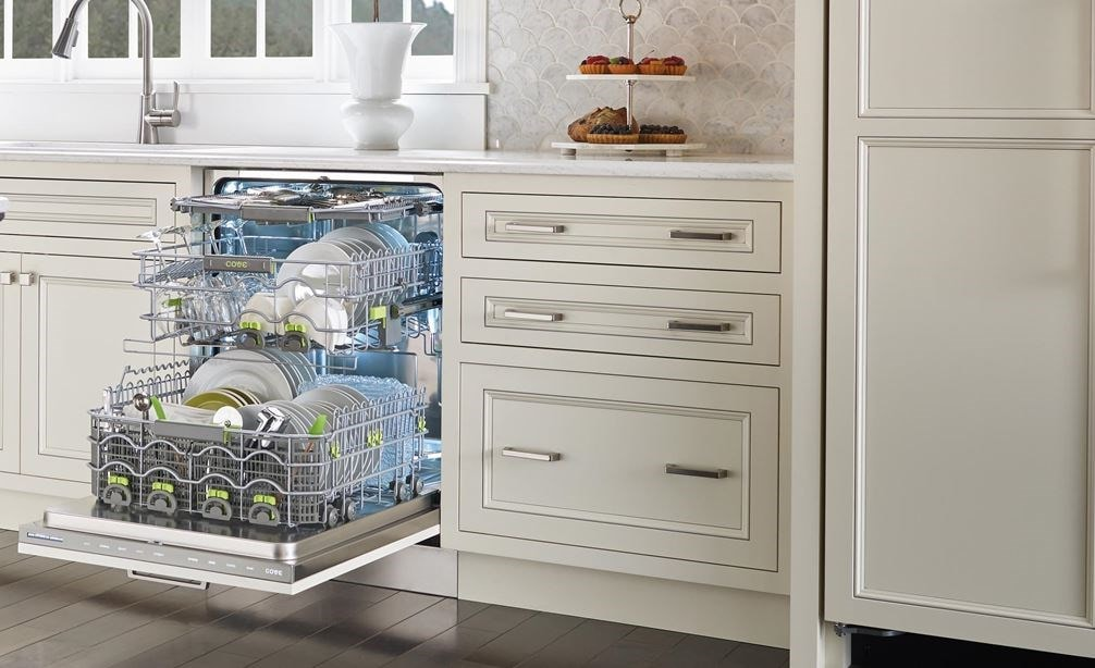 "The Cove 24"" Dishwasher (DW2450) accepts cabinet panels and handles to match your kitchen."