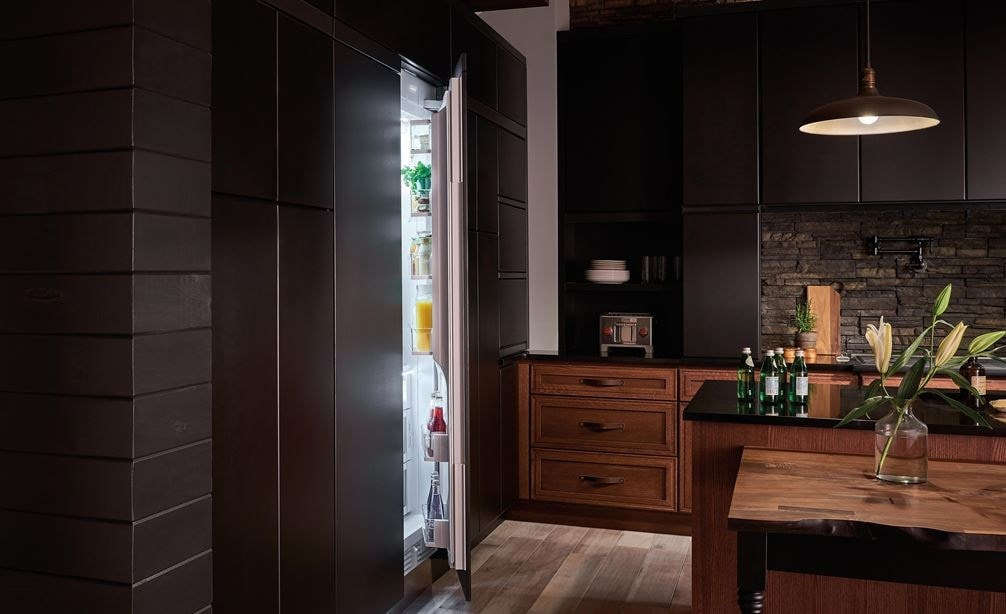 "Sub-Zero 24"" Integrated Column Refrigerator - Panel Ready (IC-24R) paired with Wolf Gourmet 4-Slice Toaster (WGTR104S)"