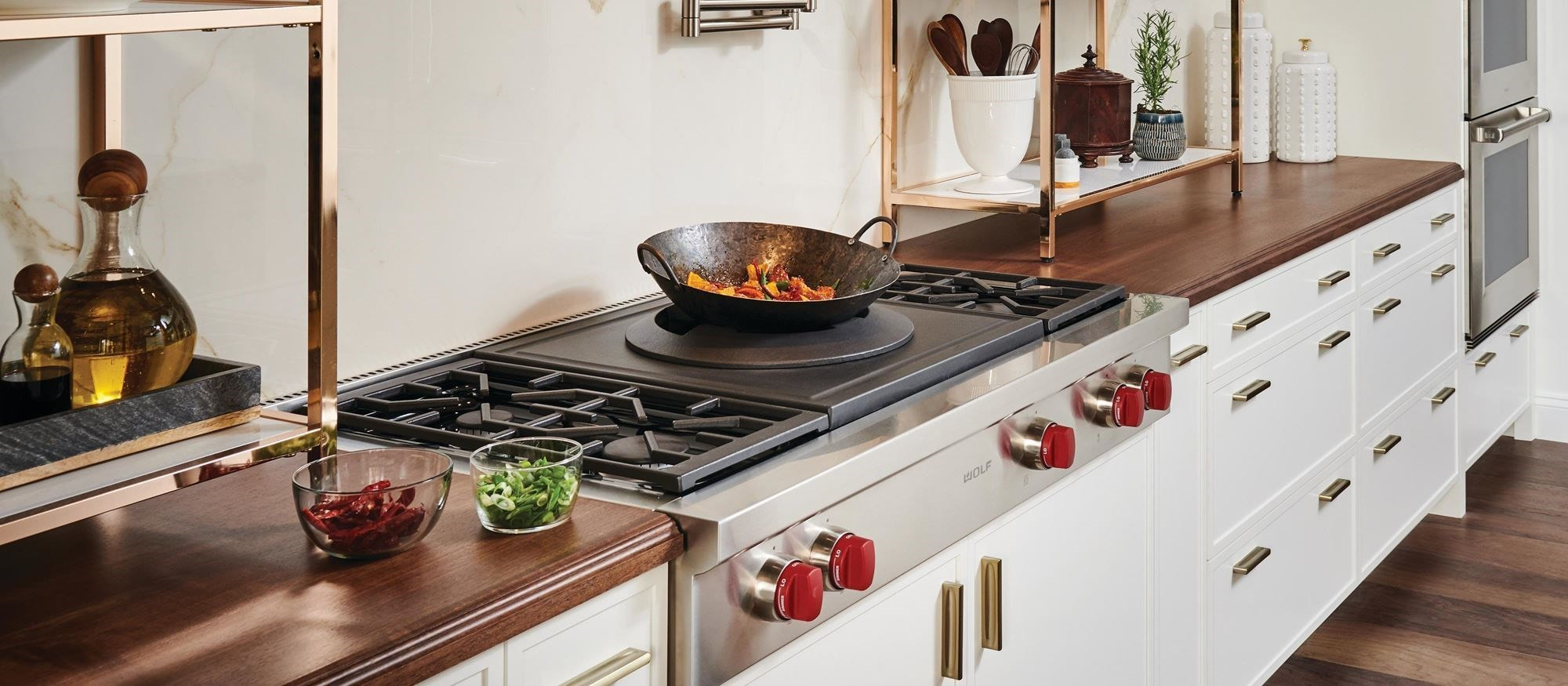 "Wolf 48"" Sealed Burner Rangetop - 4 Burners and Wok Burner (SRT484W)"