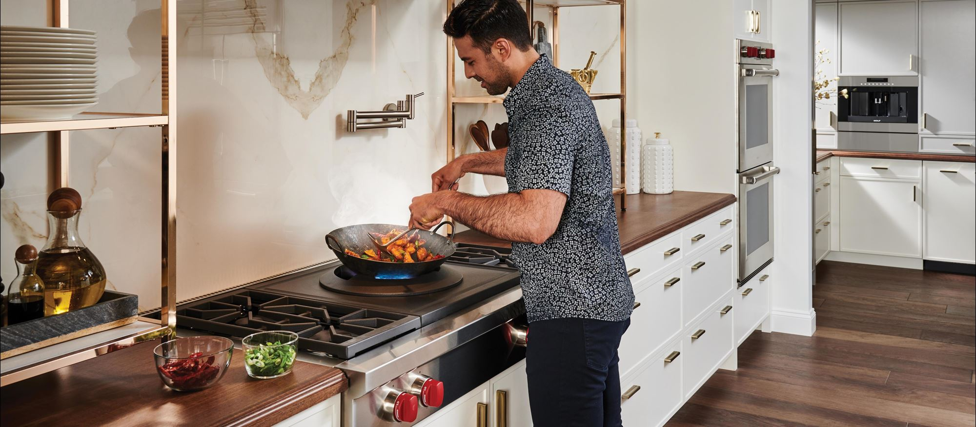 Wolf Cooktop and Wolf Gourmet Cookware