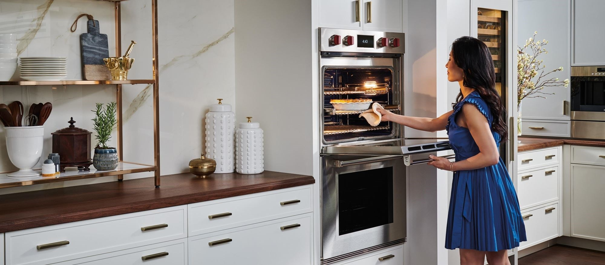 Wolf Built-In Ovens provide the ultimate luxury kitchen environment