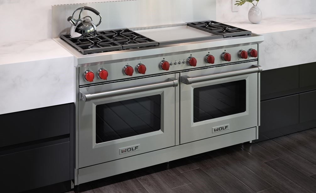 The Wolf 60 Gas Range 6 Burner Infrared Dual Griddle Gr606dg Rangetop With