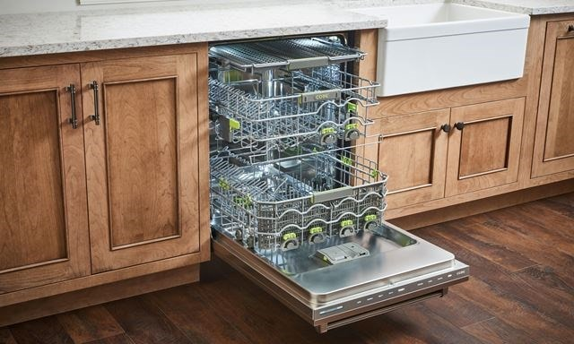 "Cove 24"" built-in dishwasher (DW2450) with a fully flexible interior rack to fit any size dishes"