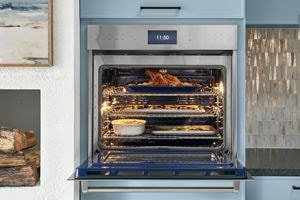 Wolf Convection Ovens are equipped with advanced technology dual fans ensuring even cooking and flavorful results.