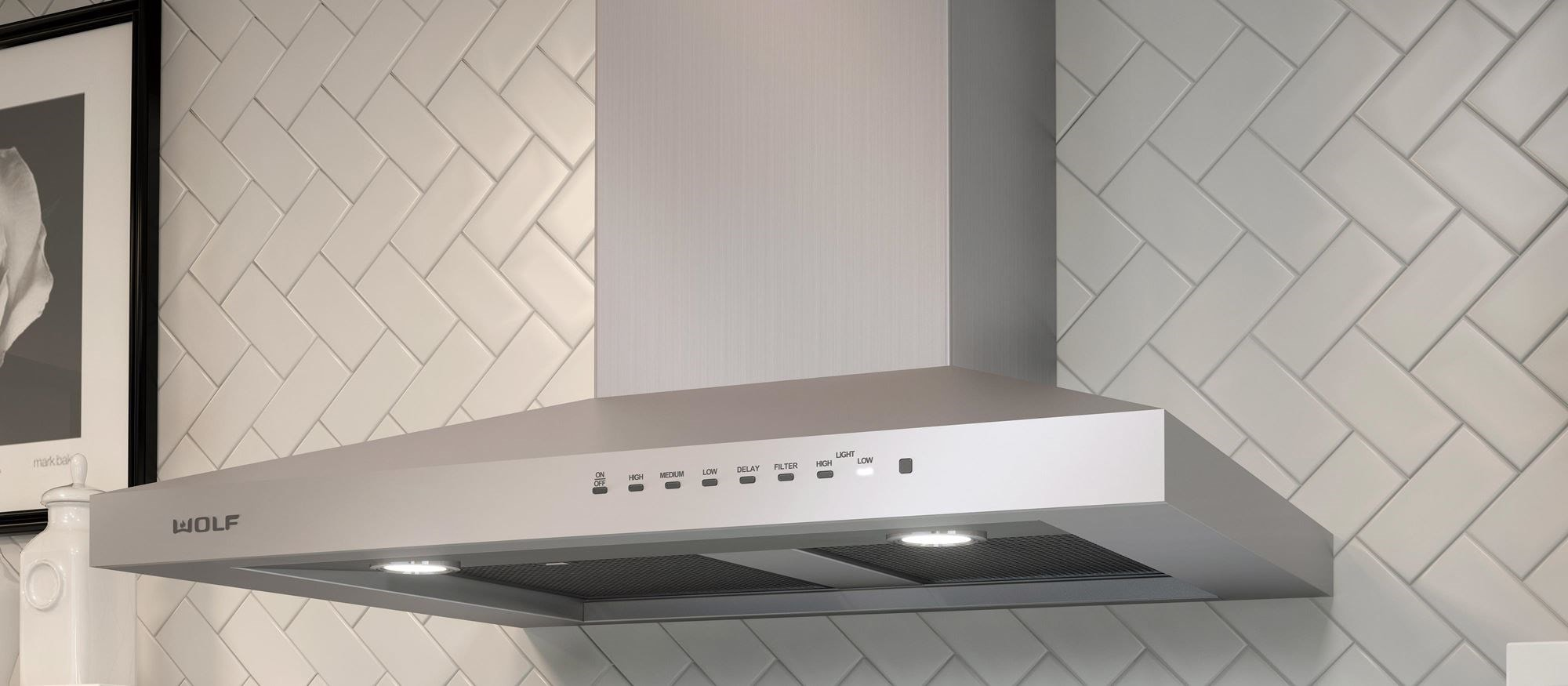 "Wolf 30"" Cooktop Wall Hood - Stainless (VW30S)"