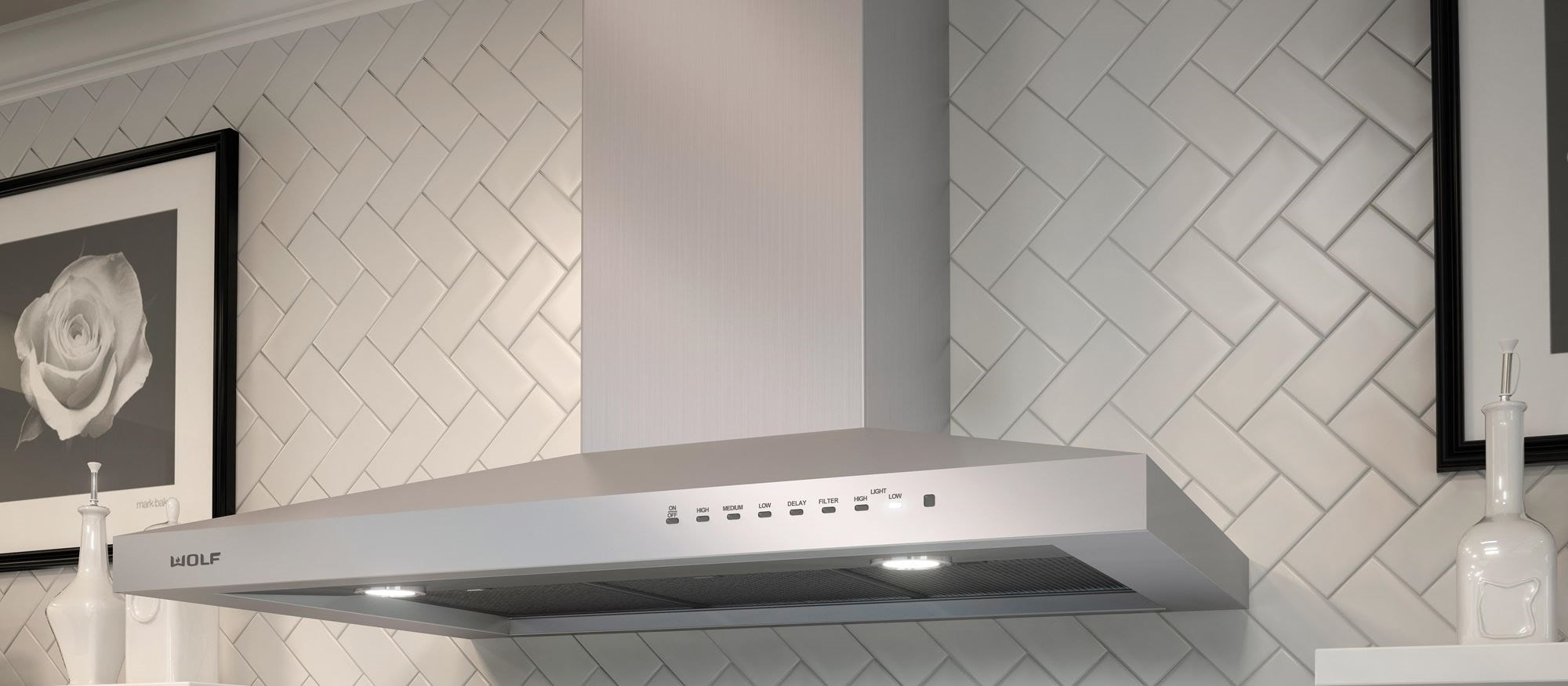 "Wolf 36"" Cooktop Wall Hood - Stainless (VW36S)"