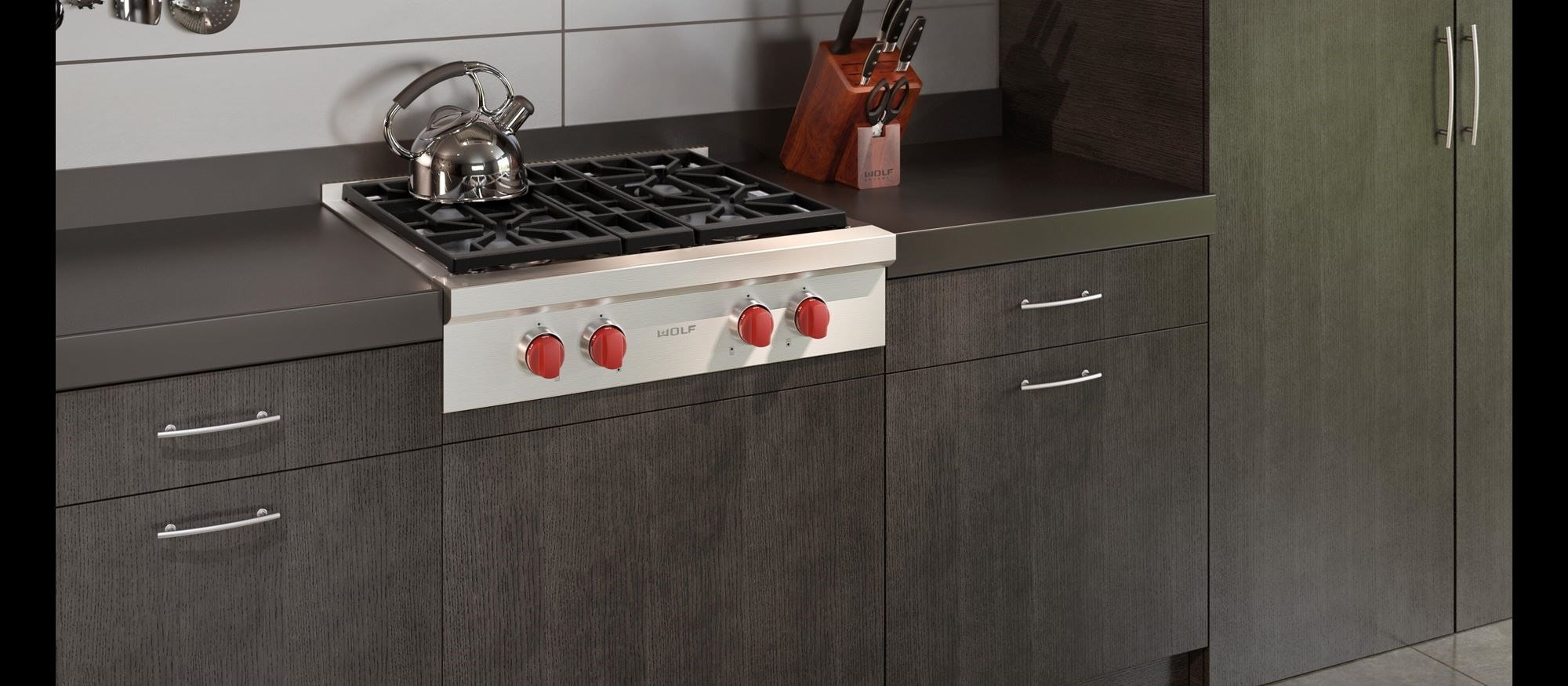 "Wolf 30"" Sealed Burner Rangetop - 4 Burners (SRT304)"