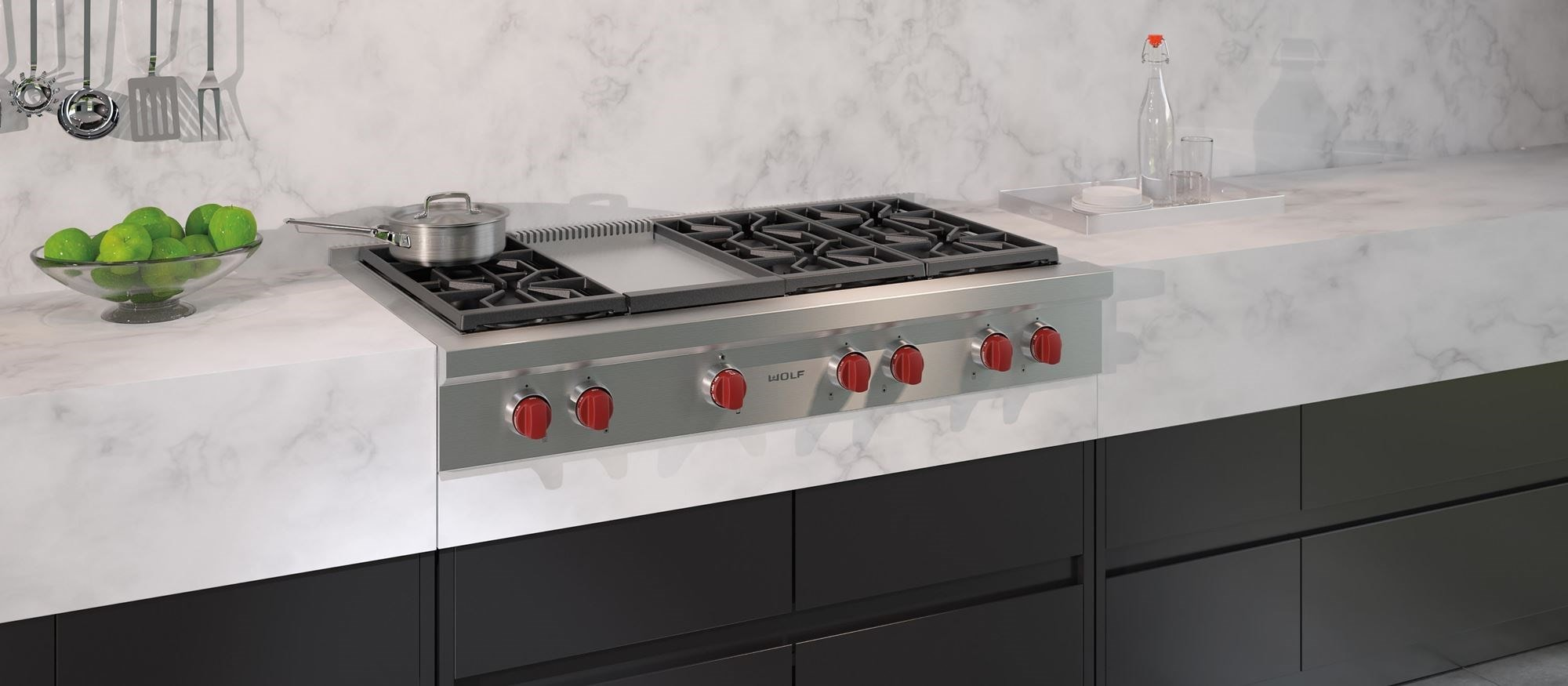 48 Sealed Burner Rangetop 6 Burners And Infrared Griddle