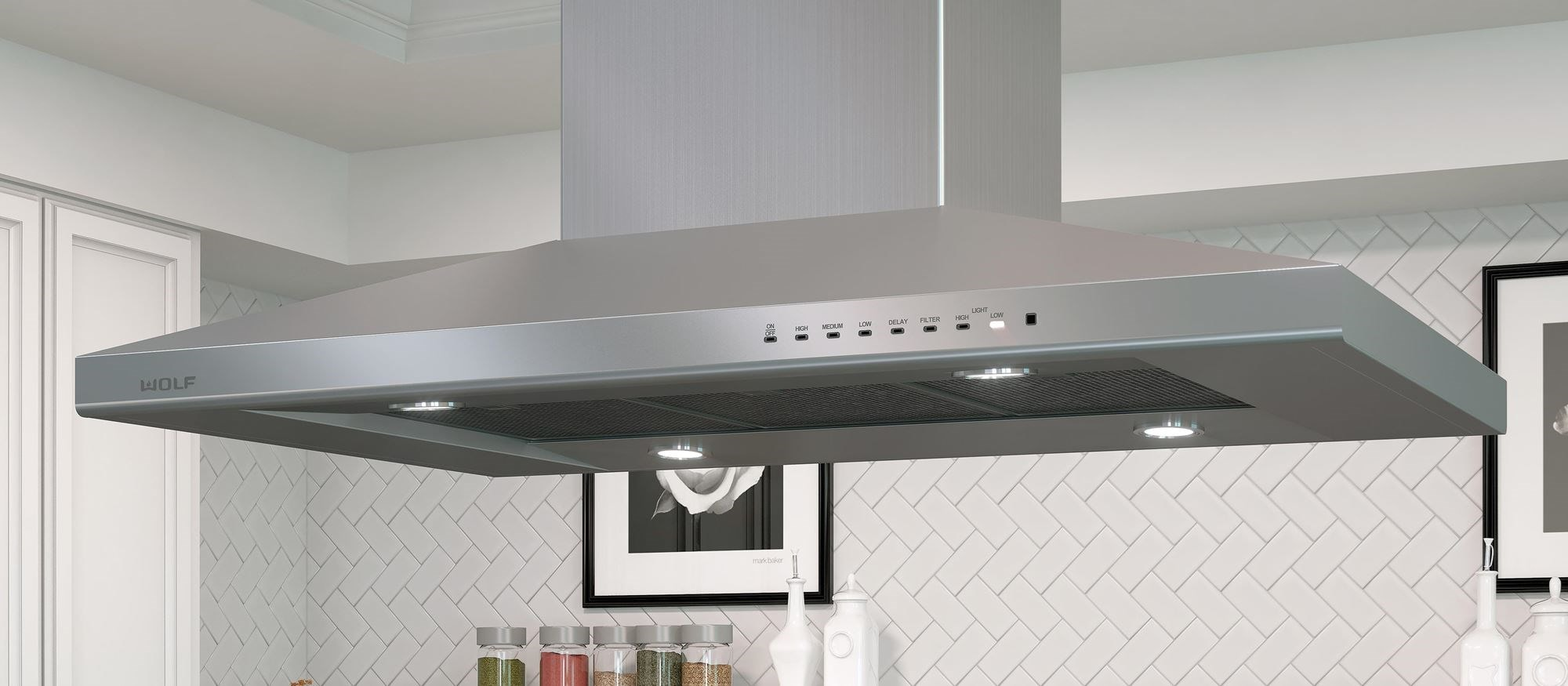 "Wolf 42"" Cooktop Island Hood - Stainless (VI42S)"