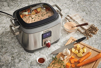 Hungarian Style Paprika Pork Loin with Potatoes and Carrots in Process