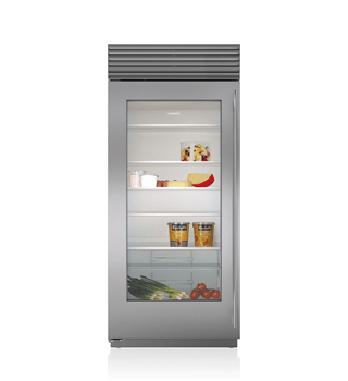 "Sub-Zero 36"" Built-In Glass Door Refrigerator BI-36RG/S"