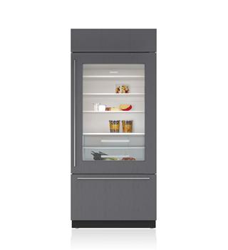 Built in refrigeration bi 36ug s sub zero wolf - Glass door fridge for home ...