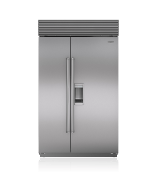 "Sub-Zero 48"" Built-In Side-by-Side Refrigerator/Freezer with Dispenser  BI-48SD/S"