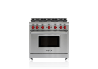 "Wolf 36"" Gas Range - 6 Burners GR366"