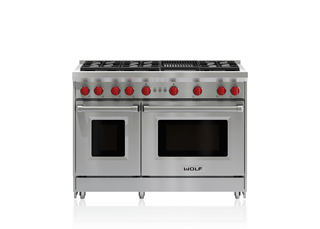 "Wolf 48"" Gas Range - 6 Burners and Infrared Charbroiler GR486C"