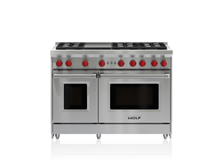 "Wolf 48"" Gas Range - 6 Burners and Infrared Griddle GR486G"