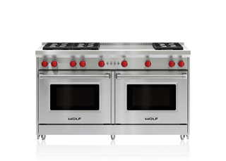 "Wolf 60"" Gas Range - 6 Burners and French Top GR606F"