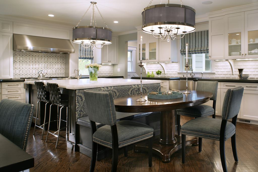 kitchen island with banquette nantucket now kitchen gallery sub zero amp wolf appliances 5196