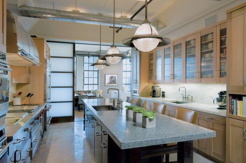 Industrial luxury kitchen gallery sub zero wolf for New york loft kitchen design