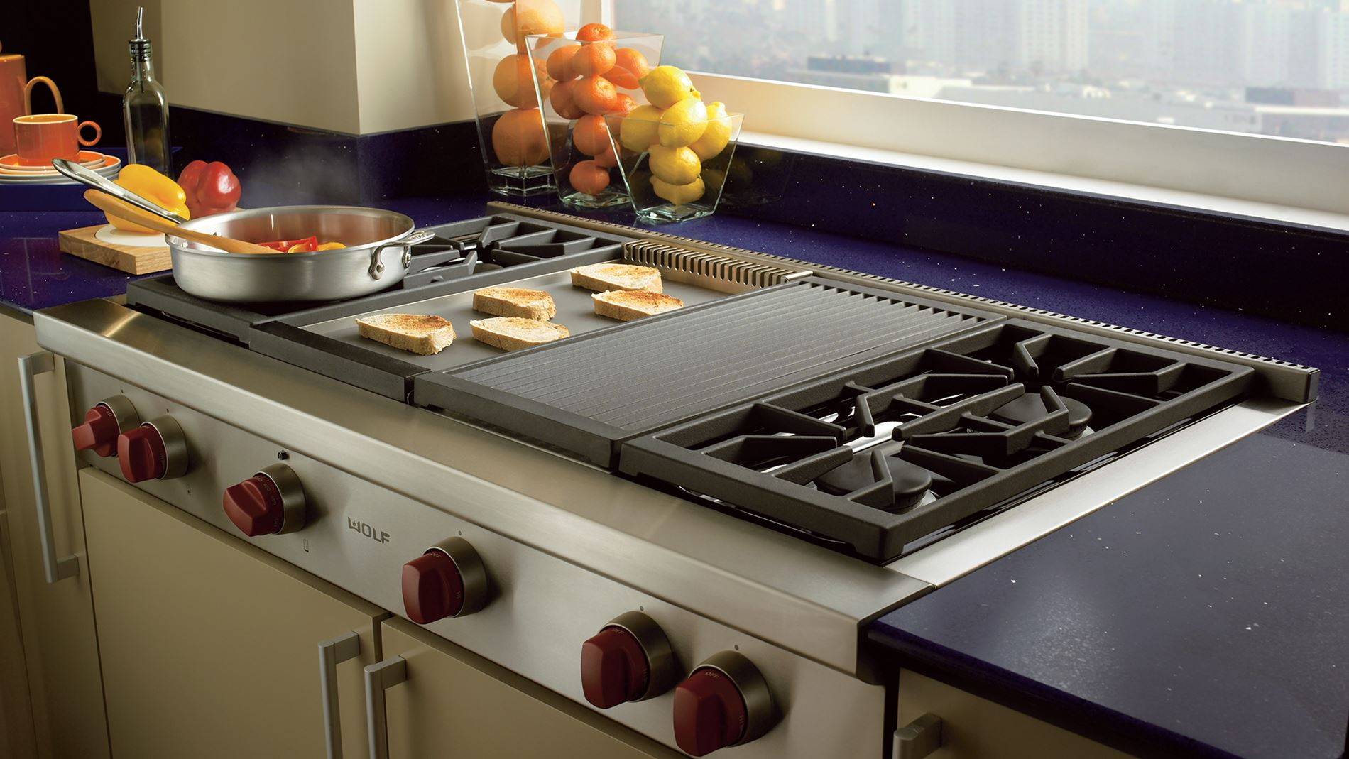 Wolf Rangetops Offering A Griddle Are Available In Units That At Least 36 Wide The Is 15 000 Btu Infrared Gas Benefit To