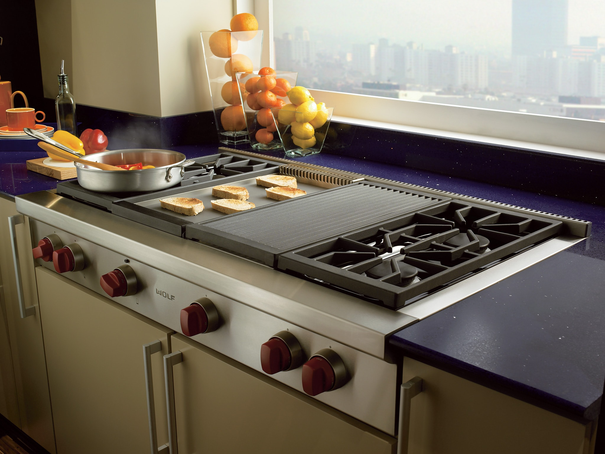 Superior Wolf Kitchen Appliances Prices #6: Wolf Rangetops Offering A Griddle Are Available In Units That Are At Least  36u201d Wide. The Wolf Griddle Is 15,000 BTU Infrared Gas. The Benefit To  Infrared Is ...